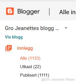 Statusrapport: Her var det da veldig mange like tall :-) Fra Gro Jeanettes blogg om skribentliv og helse.