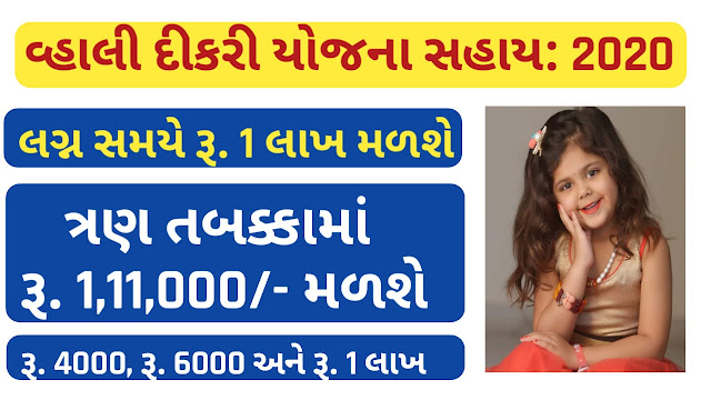 [Gujarat Scheme] Vahali Dikri Yojana 2020 Application Form, Registration process and Scholarship