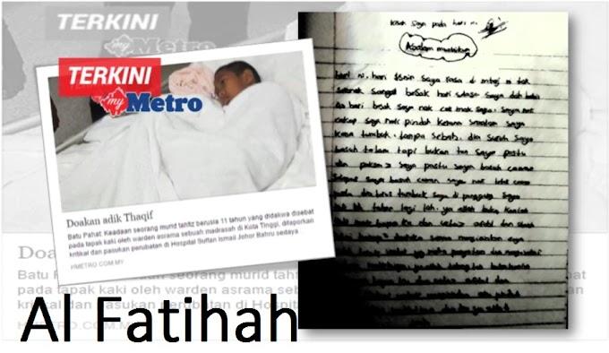 Al Fatihah - Pergi tak kembali (Mohamad Thaqif Amin Mohd Gadaffi)