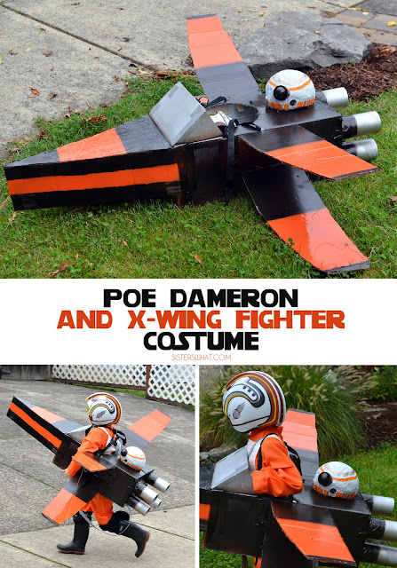 OH my goodness, this Poe Dameron X-Wing and is just made out of cardboard box x-wing