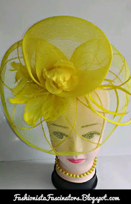 Yellow fascinators in Kenya