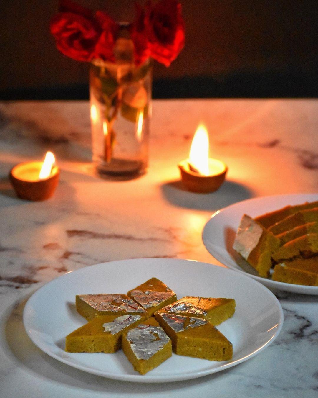 Besan Katli of Besan Burfi for Diwali by Kulsum Begum