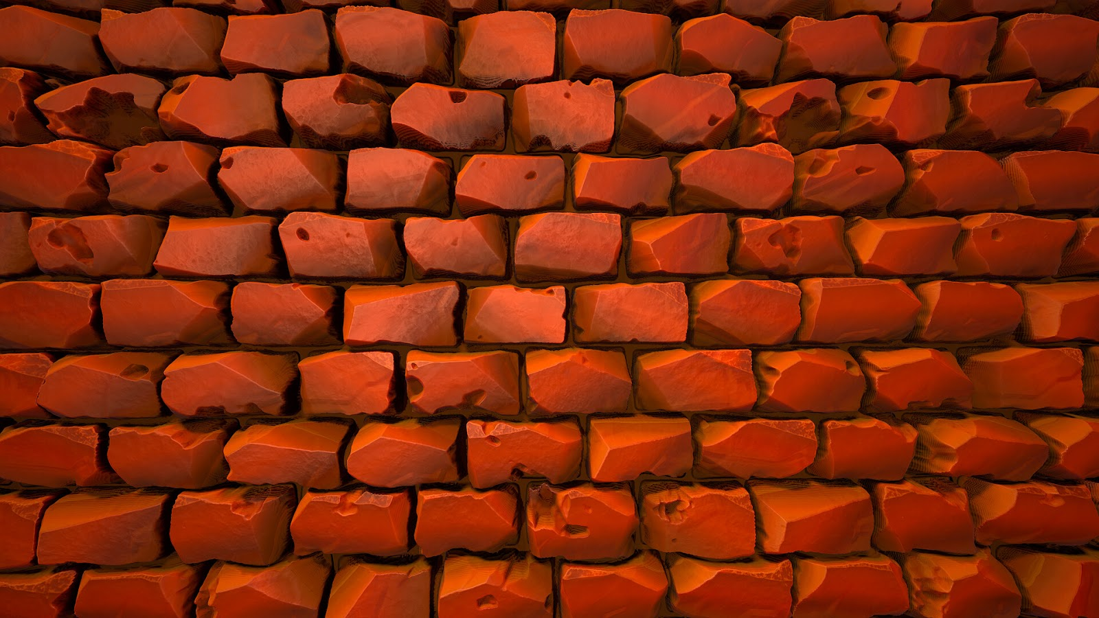 Bricks illustration to use as desktop wallpaper 1080 pixels
