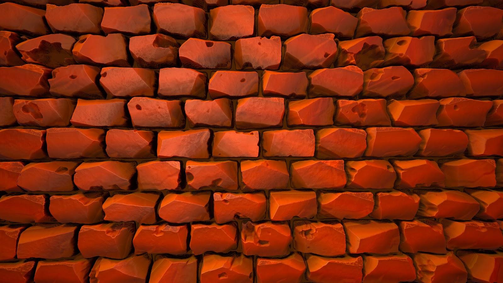 Bricks illustration to use as desktop wallpaper 1080 pixels
