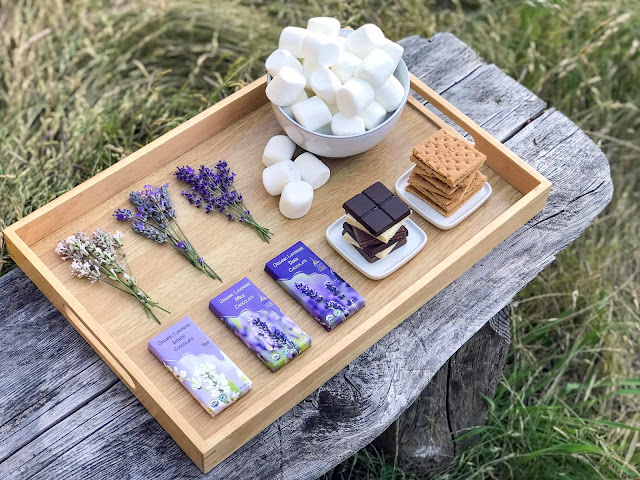 How to make decadent Lavender Chocolate S'Mores
