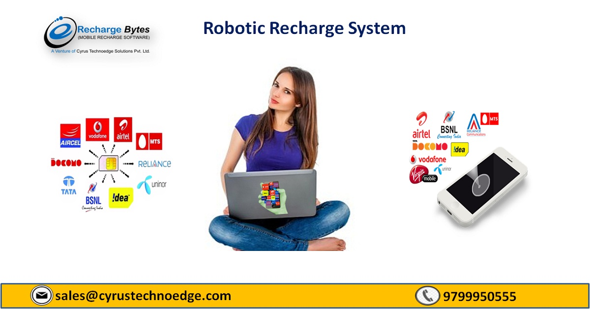 World Class Robotic Recharge System For Mobile Recharge Startup