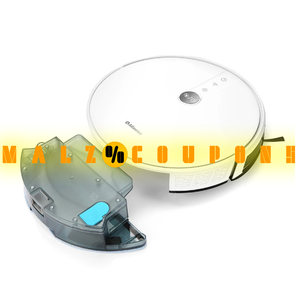 Display  Robot Vacuum Cleaner Smart   Mopping Voice Control  Brand  Alfawise V8S PRO E30B  ( Discount 27% OFF )