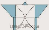 Bước 18: Hoàn thành cách xếp con bướm bằng giấy theo phong cách origami.