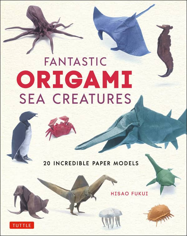 origami sea creatures on book cover