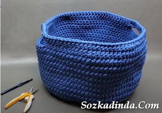 penye ip ile alışveriş çantası yapımı