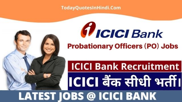 9800 Jobs Announced For Freshers In ICICI Bank
