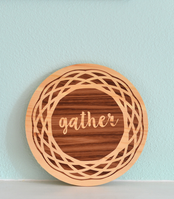 easy gather sign thanksgiving decoration