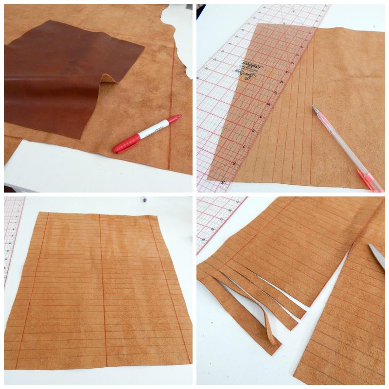 Boho Leather Fringe Bag Tutorial
