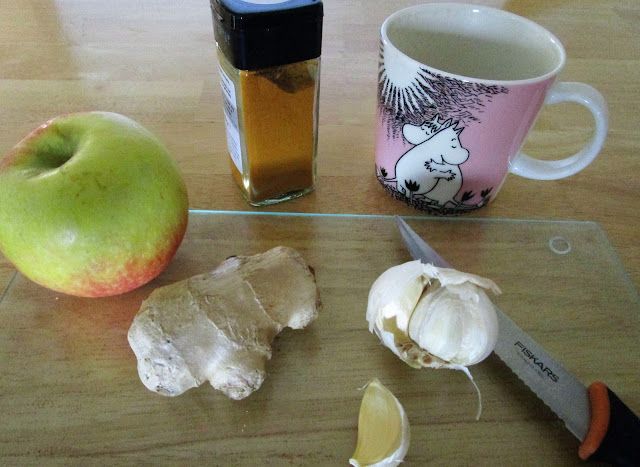 lasinen leikkuulauta, inkivääri flunssan torjuntaan