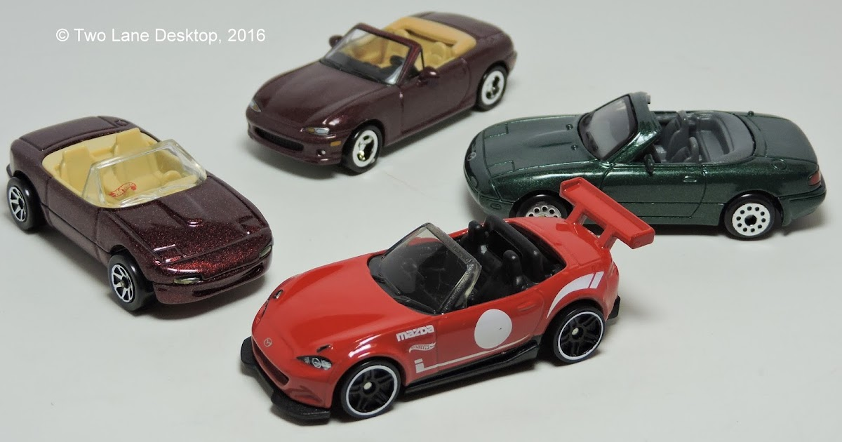 two lane desktop hot wheels 2015 mazda mx 5 miata 1990
