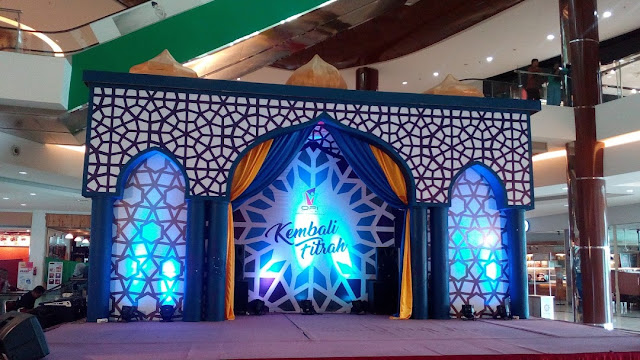 Dekorasi Ramadhan Panggung Konser dari Styrofoam