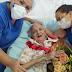 Idosa de 95 anos é recebida com festa após vencer a covid-19, em Catingueira