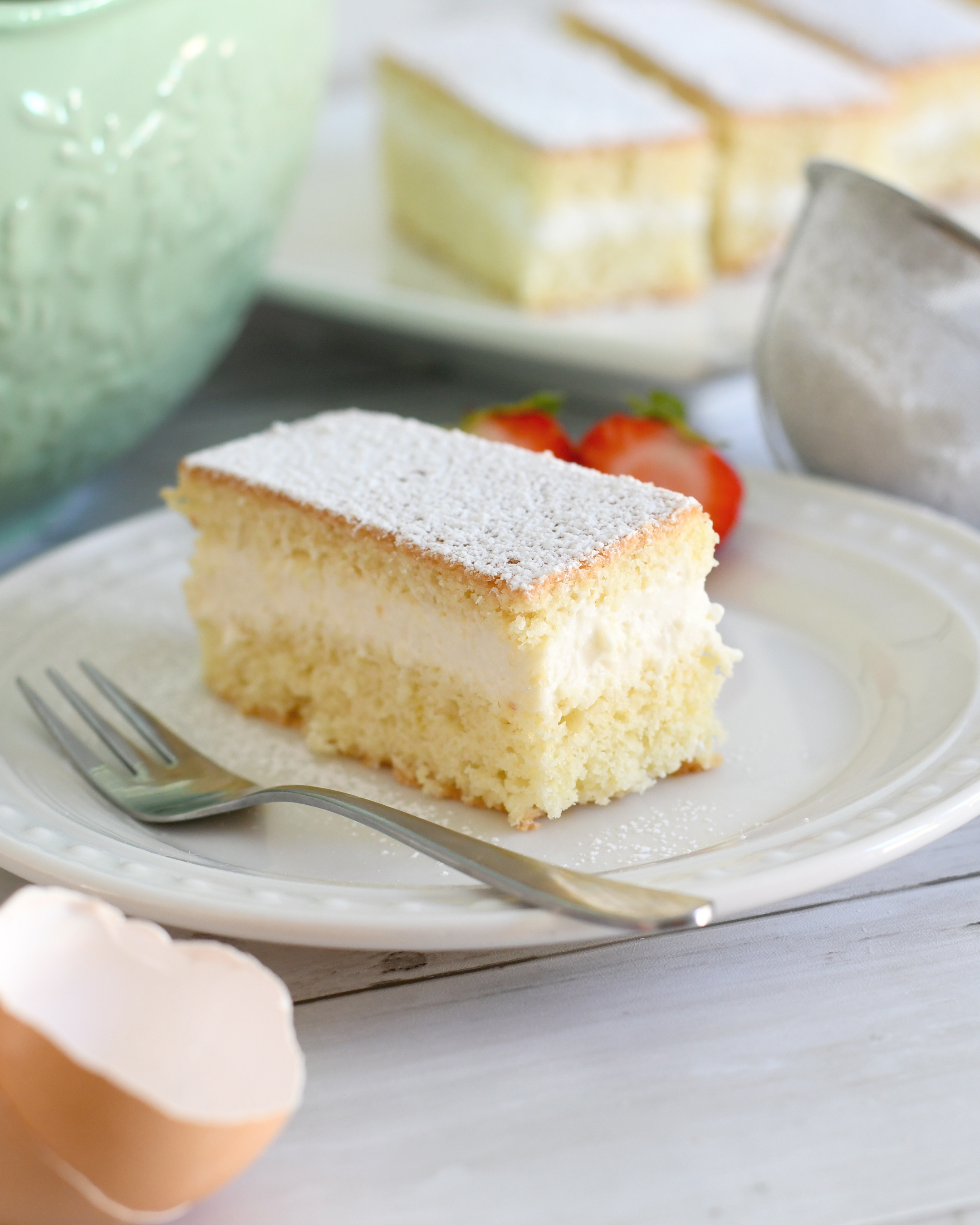 Torta paradiso - Italian Paradise Cake with Milk Cream