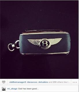 mi+bentley - PHOTOS: M.I Abaga {The Chairman} Acquires Bentley for himself