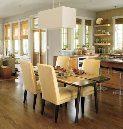 Decorate an open floor plan luxury designs 2013 houzzz - Open floor plan decorating ideas ...