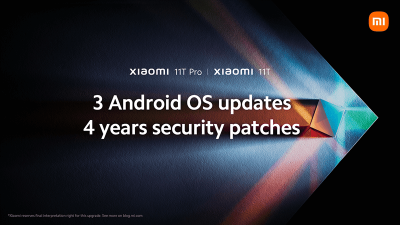 Xiaomi 11T series to get 3 Android OS upgrades and 4 years of Security Patches