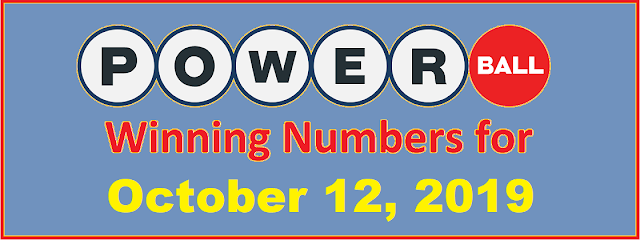 PowerBall Winning Numbers for Saturday, October 12, 2019