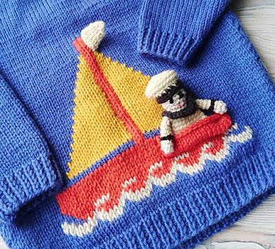 Вышивка на вязаном полотне в детских изделиях