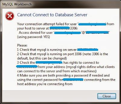 Solved] MySQL: Access denied for user 'username'@'host' (using