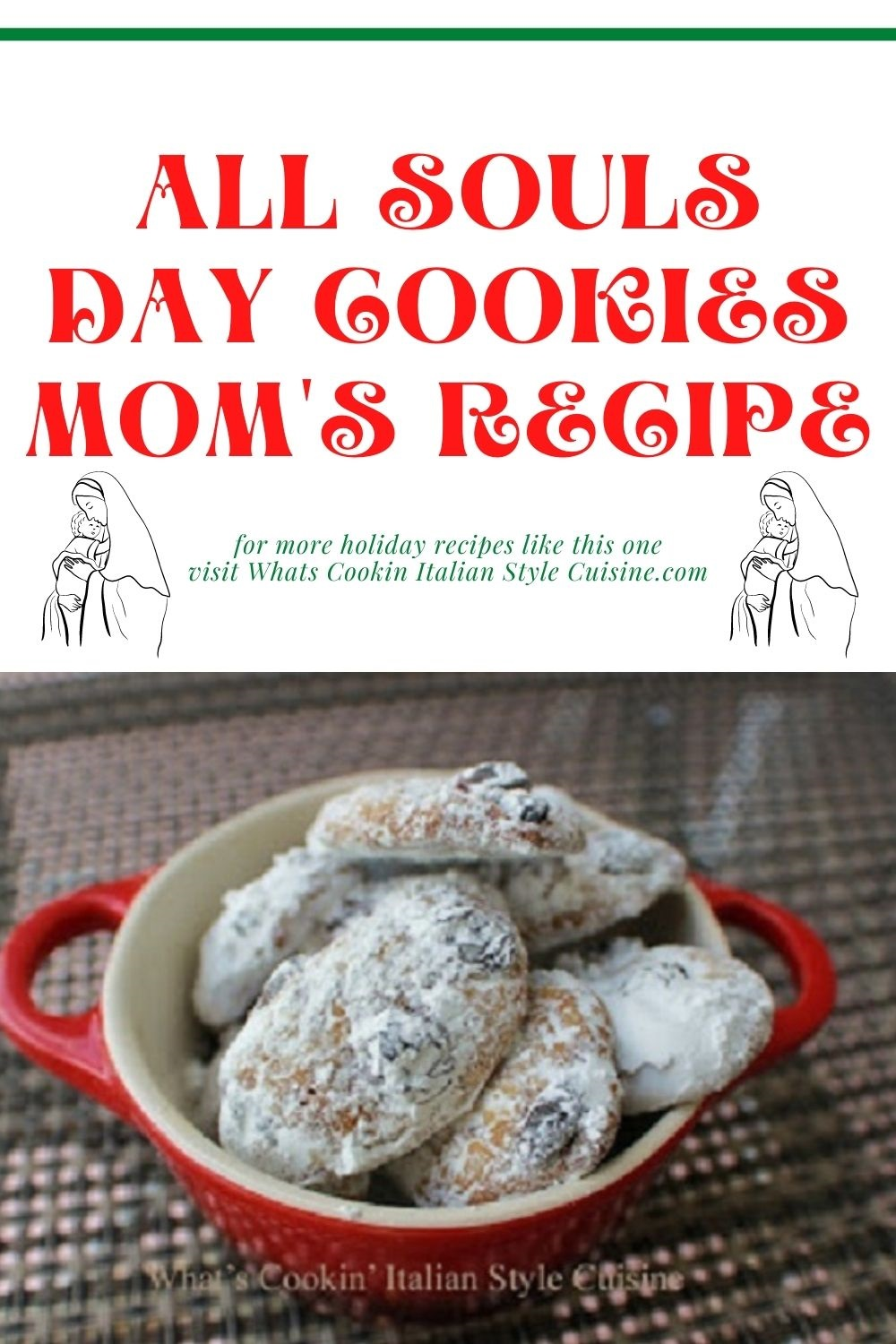this is a pin for later of how to make bones of the dead cookies on All Souls Day