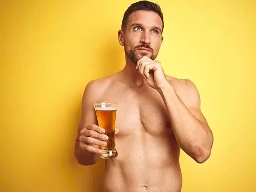 The bar allows naked guests to drink beer