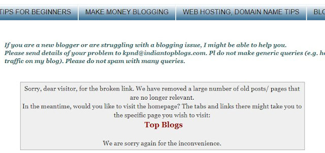 404 page on Blogger blog