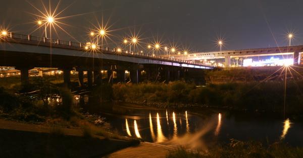 台中大里|大里橋夜景|交通繁忙的大里橋也有漂亮夜景