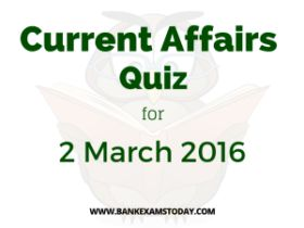 Current Affairs Quiz