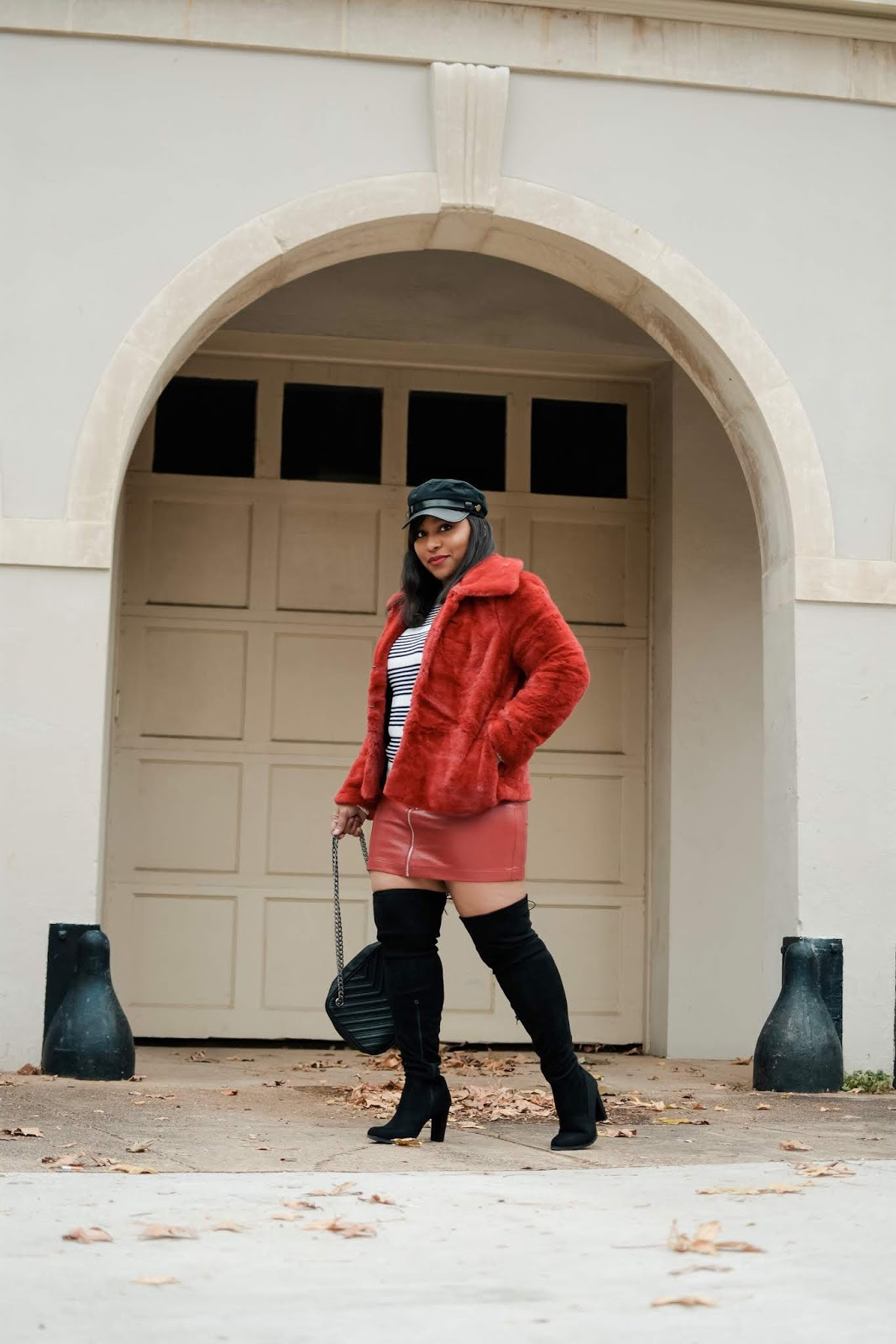 dcbloggers, sreetstyle, faux fur coat, over the knee boots, trendy outfits