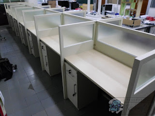 meja cubicle Knockdown  Meja partisi bongkar pasang  Furniture semarang