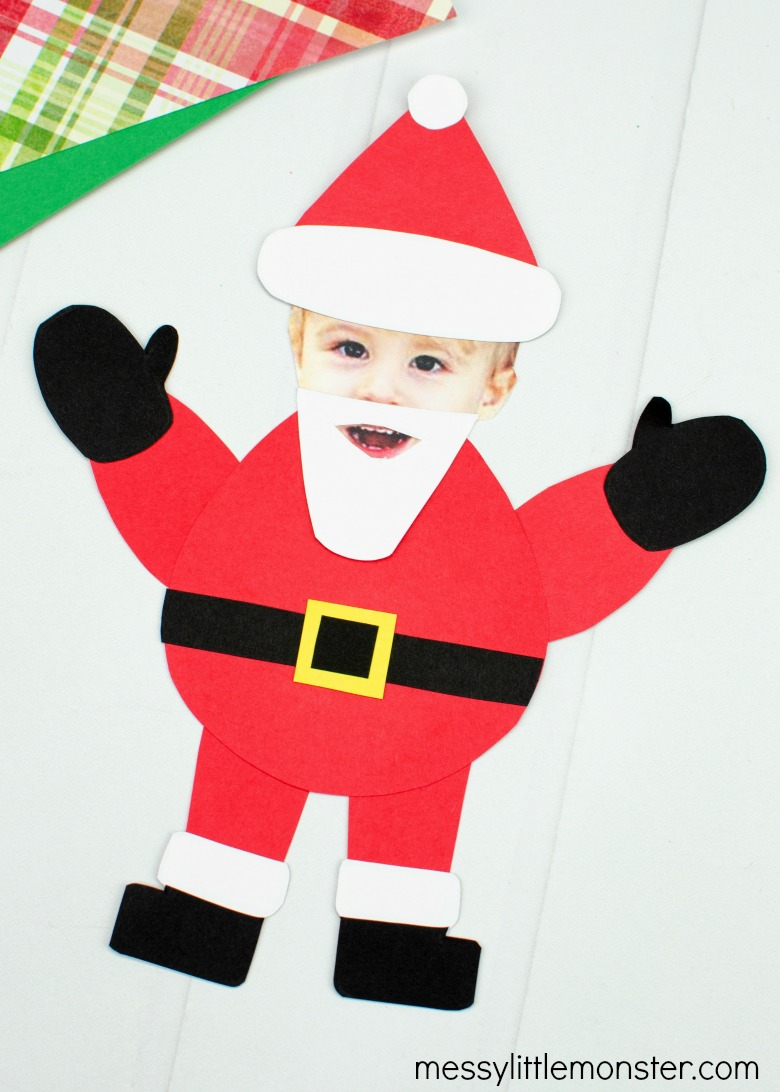 Santa photo craft for kids