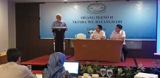 Soni Pratomo Mewakili Kaban BAPPEDA Membuka Secara Resmi Sidang Pleno II TKPSDA WS Batanghari.