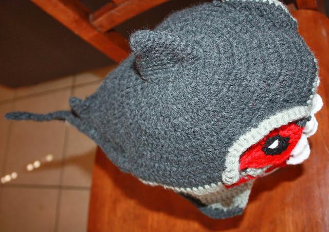 Amigurumin Shark Hat Gorro De Tibur 211 N