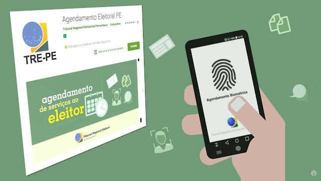 Aplicativo do TRE-PE permite aos eleitores fazer agendamento biométrico