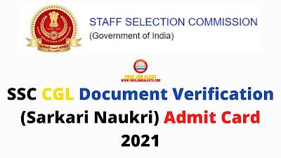 SSC CGL Document Verification