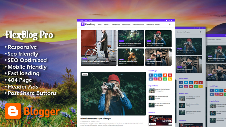 FlexBlog Premium Responsive Blogger Template