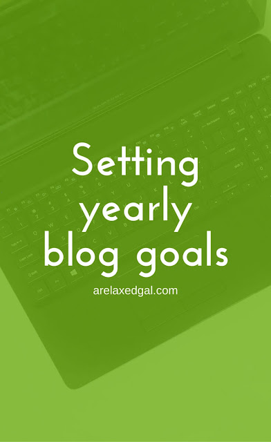 Setting yearly goals for my blog | @arelaxedgal