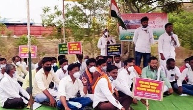 इंडिया मेगा ऍग्रो कंपनी विरोधात  मोठया संख्येने शेतकरी जनआंदोलन संपन्न..NNL