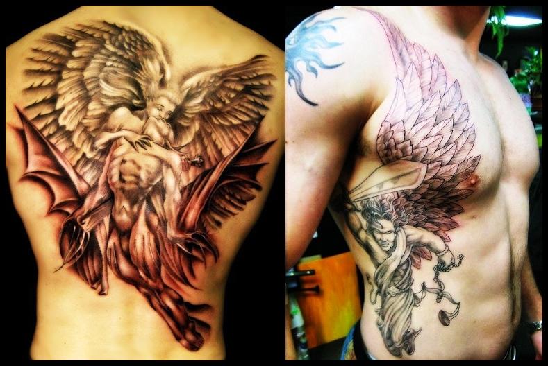 49b1c162e 12 COOL ANGEL TATTOOS FOR MEN ~ Tattoo Creation