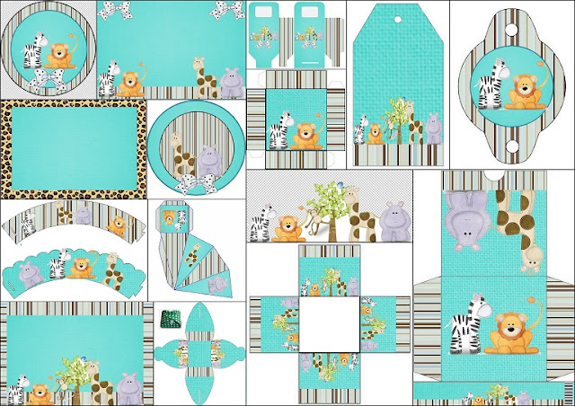 Lovely Jungle Free Printable Kit.
