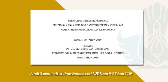 Juknis Bantuan Inisiasi Penyelenggaraan PAUD Umur 0-3 Tahun 2019