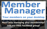 Member Manager logo and button to join free Facebook group