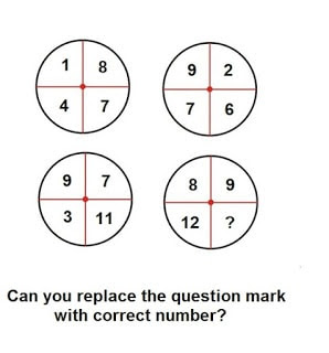 Maths Number Puzzle to find the missing number