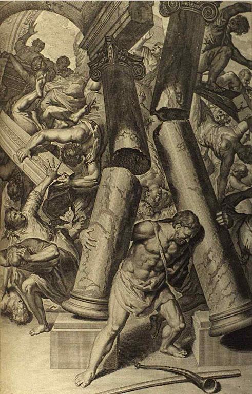 Sansão morre destruíndo o templo dos inimigos de Deus