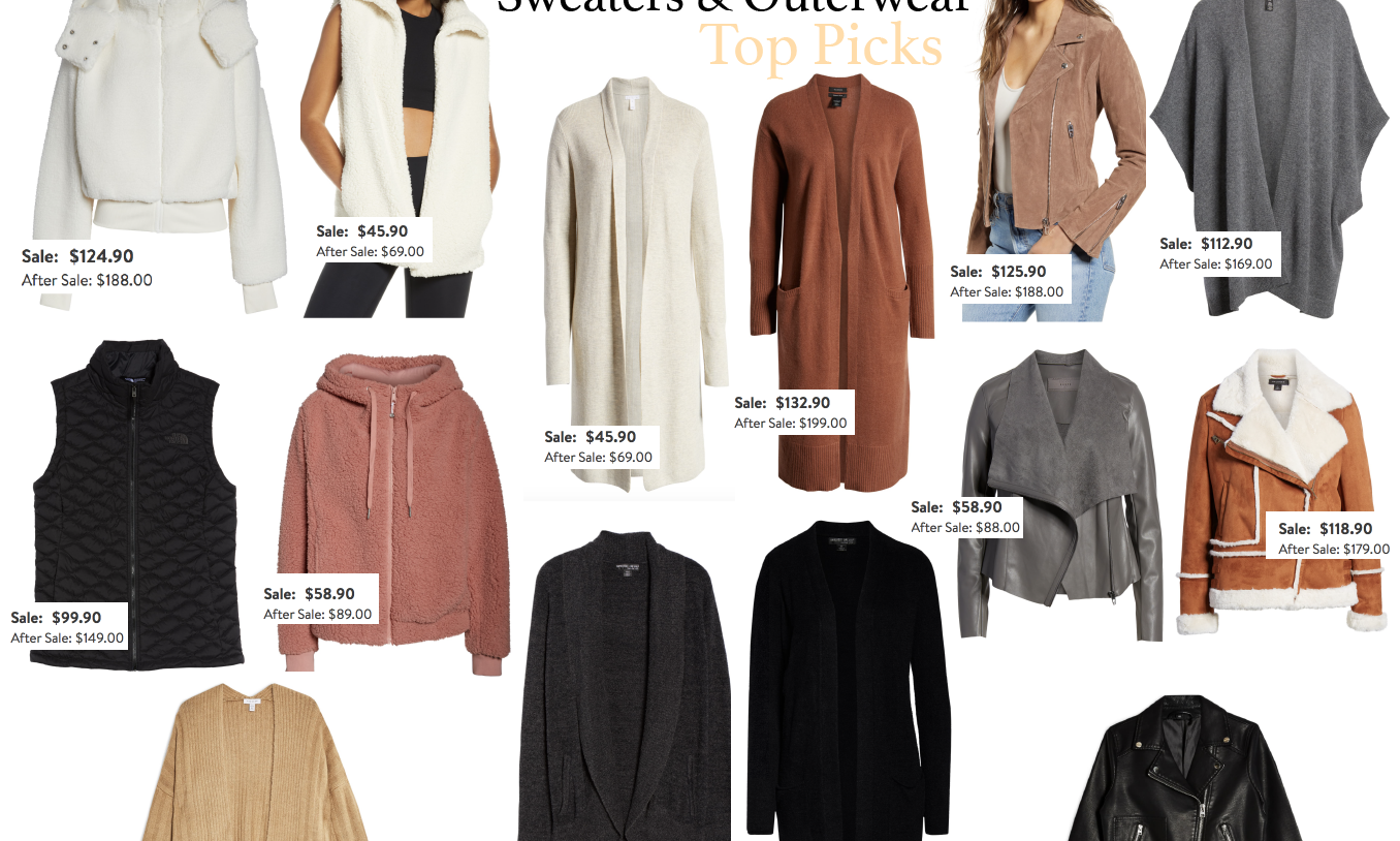 Sweaters and Outerwear Top Picks : Nordstrom Anniversary Sale